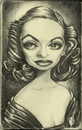 Cartoon: Betty Davis (small) by michaelscholl tagged betty,davis,actress