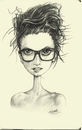 Cartoon: Ingrid Michaelson (small) by michaelscholl tagged pencil,sketch,ingrid,michaelson,singer