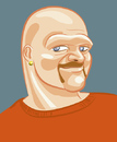 Cartoon: morrell (small) by michaelscholl tagged vector,cartoon,bald,man