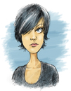 Cartoon: patricia (small) by michaelscholl tagged woman,eye,scribble