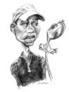 Cartoon: Problems with Woods (small) by michaelscholl tagged tiger,woods,clubs,golf,sports