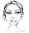 Cartoon: sandra d. sketch (small) by michaelscholl tagged woman,cartoon,portrait