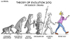 Cartoon: Political Cartoon (small) by Luis tagged evolution 2012