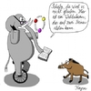 Cartoon: Elefant vs. Wildschwein (small) by KAYSN tagged elefant,wildschwein