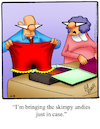 Cartoon: Bloomers (small) by Billcartoons tagged husband,wife,marriage,romance,romantic,love