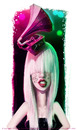 Cartoon: Gaga (small) by fantasio tagged lady,gaga,musician,stage,portraiture