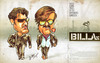 Cartoon: Billa (small) by bharatkv tagged billa,rajinikath,rajini,ajith,kumar,kollywood,tamil,cinema,remake,gangster,indian,bollywood,aegan,asal,caricature,oil,pastels,bharat