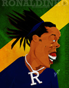 Cartoon: Ronaldinho (small) by bharatkv tagged ronaldinho,football,soccer,fifa,brazil,caricature,cartoon,digital,india,bharat