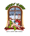 Cartoon: Merry X-Mas (small) by Toeby tagged santa claus redhead christmas toeby mark töbermann