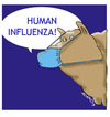 Cartoon: human influenza (small) by adancartoons tagged virus,h1n1