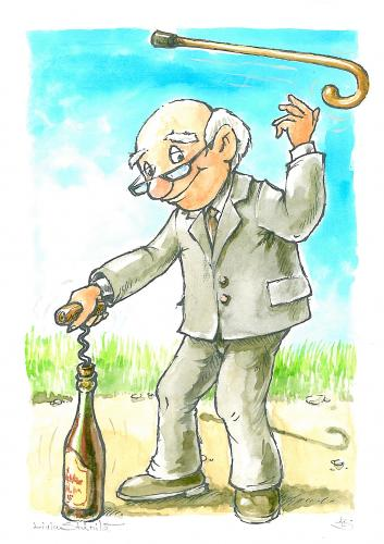 Cartoon: better support (medium) by Liviu tagged old,man,wine