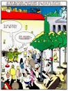 Cartoon: Berlin (small) by Pohlenz tagged berlin,unter,den,linden,brandenburger,tor,flanieren,boulevard