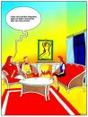 Cartoon: November Evening (small) by Pohlenz tagged couple,man,woman,home,orgasm