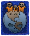 Cartoon: Dead Earth (small) by dbaldinger tagged ecology,pollution,environment,earth,nature