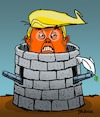 Cartoon: Fortress Trump (small) by dbaldinger tagged trump,usa,war,peace,diplomacy