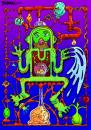 Cartoon: Tubeman (small) by dbaldinger tagged fantasy weird cat strange alien pipes