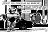Cartoon: Detroit bankruptcy (small) by sinann tagged detroit,bankruptcy,robocop,robbery,money