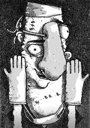Cartoon: YOUR FACE IS IN OUR HANDS (medium) by ALEX gb tagged plastic,surgery