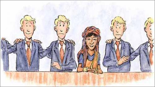 Cartoon: In the boardroom (medium) by Ingemar tagged equality,men,women,