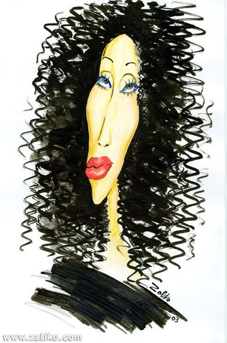 Cartoon: cher (medium) by zaliko tagged cher