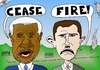 Cartoon: Annan Assad Cease Fire! (small) by laughzilla tagged syria,civil,war,ceasefire,cease,fire,annan,assad,caricature,political,cartoon,editorial,comic,laughzilla