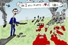 Cartoon: Bashar Assad will always love yo (small) by laughzilla tagged bashar,assad,whitney,houston,love,song,parody,satire,caricature,political,editorial,cartoon