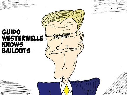 Cartoon: Guido Westerwelle caricature (medium) by BinaryOptions tagged guido,westerwelle,german,foreign,minister,editorial,business,cartoon,caricature,comic,optionsclick,binary,options,trading,trader,news,finance,economy,economic