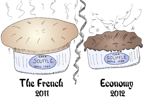 Cartoon: The overblown French economy (medium) by BinaryOptions tagged binary,option,trading,options,traders,high,low,caricature,souffle,gourmet,french,recession,economy,editorial,financial,finance,debt,cartoon,comic,webcomic
