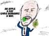Cartoon: Ben Bernanke caricature Apple (small) by BinaryOptions tagged ben,bernanke,us,federal,usd,reserve,chairman,bank,monetary,policy,chief,apple,appl,dollar,buck,america,american,financial,political,caricature,editorial,business,comic,cartoon,optionsclick,binary,options,trader,option,trading,trade,finance,news,economic,e