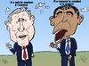 Cartoon: Bush et Obama caricature (small) by BinaryOptions tagged option,binaire,options,binaires,optionsclick,barack,obama,george,bush,president,guerre,politiques,terreur,terrorisme,news,infos,nouvelles,actualites,caricature,comique,comic,webcomic