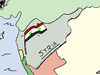 Cartoon: Syrian WMD flag cartoon (small) by BinaryOptions tagged syria,wmd,weapons,chemical,biohazard,flag,economic,oil,gas,military,ordinance,binary,option,options,trade,investing,finance,money,optionsclick,editorial,cartoon,caricature,political,business,news