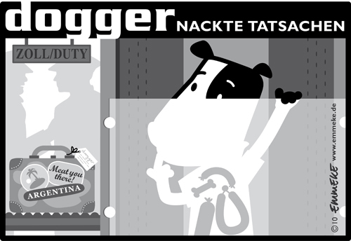 Cartoon: Nackte Tatsachen (medium) by EMMEKE tagged nacktscanner,urlaub,schmuggel,ferien,zoll,hund,dogger,dog,bodyscan,duty,smuggel,smuggler,schmuggler,suitcase,koffer,argentina,argentinien