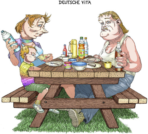 Cartoon: Deusche Vita (medium) by wambolt tagged humor,satire,cartoon