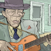 Cartoon: John Lee Hooker (small) by wambolt tagged caricature,blues,legend