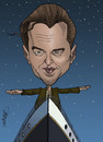 Cartoon: Leonardo  DiCaprio (small) by Berge tagged digital,coloured,caricature,american,movie,star