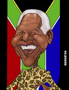 Cartoon: Nelson Mandela (small) by Berge tagged caricature,politician,president,republica,south,africa