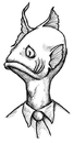 Cartoon: Fish Head (small) by vokoban tagged pen,and,ink,doodle,drawing,scribble,pencil