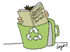 Cartoon: Career Advice (small) by Lopes tagged trash,recycle,professional,magazine,career,man,hands,symbol,ecology