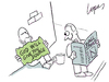 Cartoon: Greedy Investor (small) by Lopes tagged homeless,sign,investor,newspaper,wall,street,greed,investment,finance