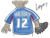 Cartoon: Hand Goal (small) by Lopes tagged hand,goal,henry,france,football,cleat,uniform
