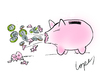 Cartoon: Piggy Flu (small) by Lopes tagged swine flu piggy bank sneeze coins money schweinegrippe