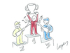 Cartoon: Podium Odor (small) by Lopes tagged formula,one,race,podium,winner,champagne,deodorant,trophy,splash,sports