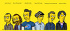 Cartoon: GEO - Painters (small) by gamez tagged simpsons,gamez,yellow