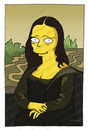 Cartoon: Mona Lisa (small) by gamez tagged mona lisa simpsons joconde yellow guy