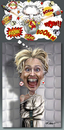 Cartoon: Hillary Clinton (small) by Ridha Ridha tagged hillary,clinton,cartoon,by,ridha,it,is,better,to,call,this,totally,mad,and,too,aggressive,woman,lady,of,booom,baaam,binng