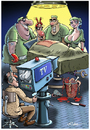 Cartoon: Live OP (small) by Ridha Ridha tagged live,op,critical,cartoon,medicine,tv,media,by,ridha