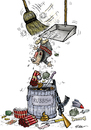 Cartoon: Rubbish (small) by Ridha Ridha tagged rubbish,critical,cartoon,against,terrorism,isis,by,ridha