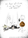 Cartoon: HAPPY HALLOWEEN (small) by Carlo Büchner tagged gag,cartoon,carlo,büchner,arts,2014,oktober,halloween,trickortreat,kids,klingel,strom,suesses,saures,joke,ray
