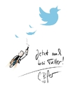 Cartoon: NEU Twitter Account (small) by Carlo Büchner tagged twitter,carlo,büchner,arts,news,ray,cartoon,humor,zeichnung,follow