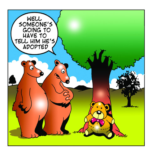 Cartoon: adopted (medium) by toons tagged adoption,orphan,teddy,bear,bears,nature,parents,toys